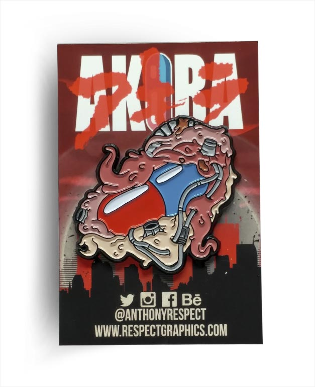 Akira Capsule Gang Anime Edition 80s Anime Soft Enamel Pin by Respect