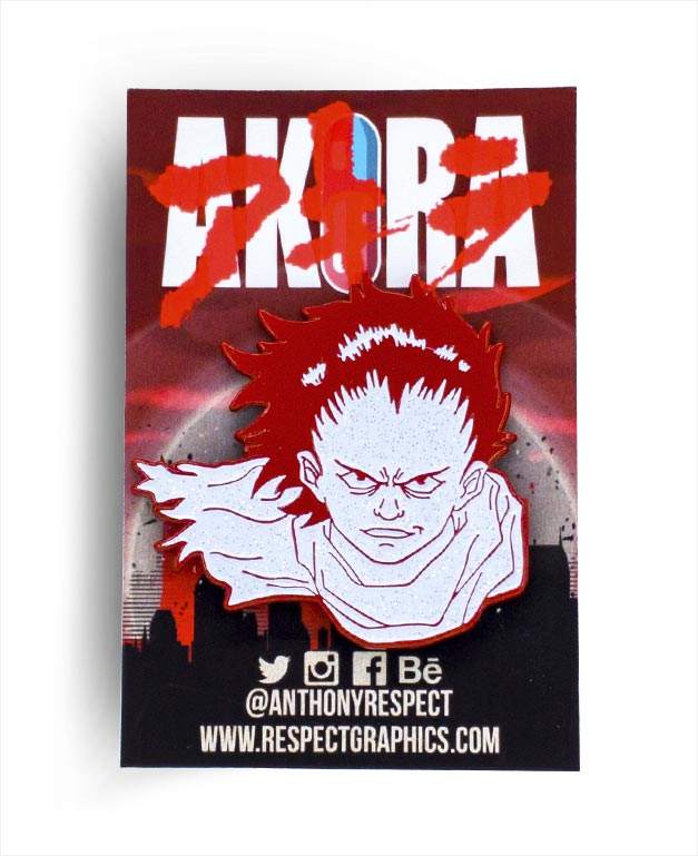 Akira Tetsuo Atomic Edition 80s Anime Soft Enamel Pin by Respect