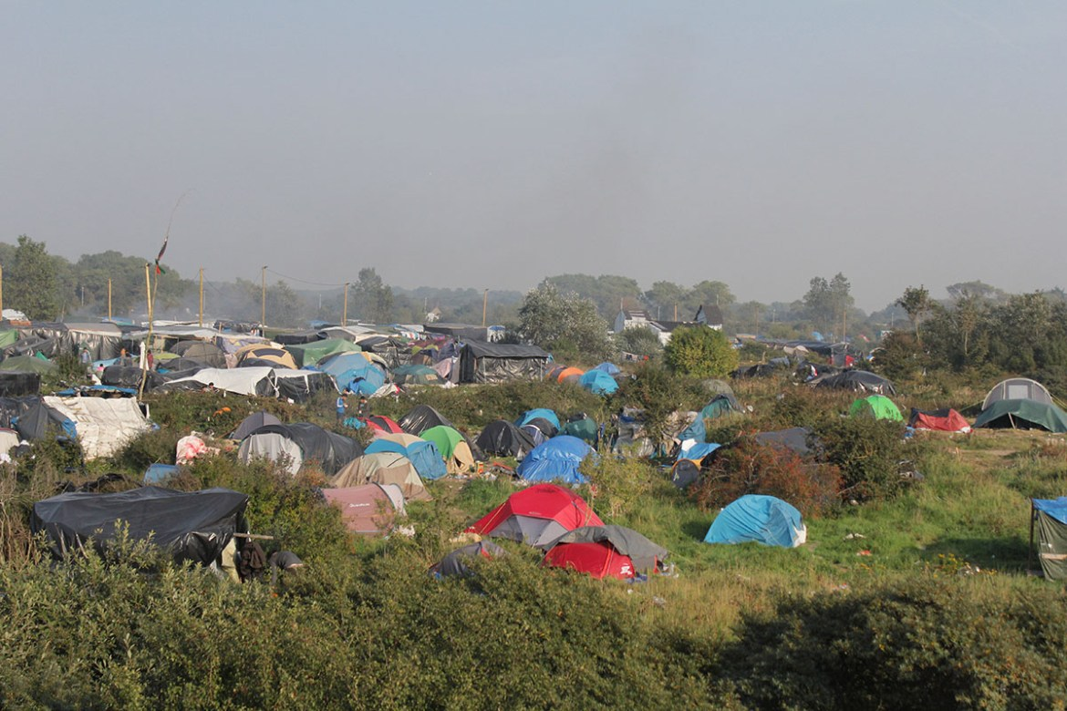 La jungle de Calais avant son démantèlement © Héloïse Leussier
