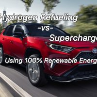 100% Renewable Energy:  Hydrogen Refueling -vs- Superchargers