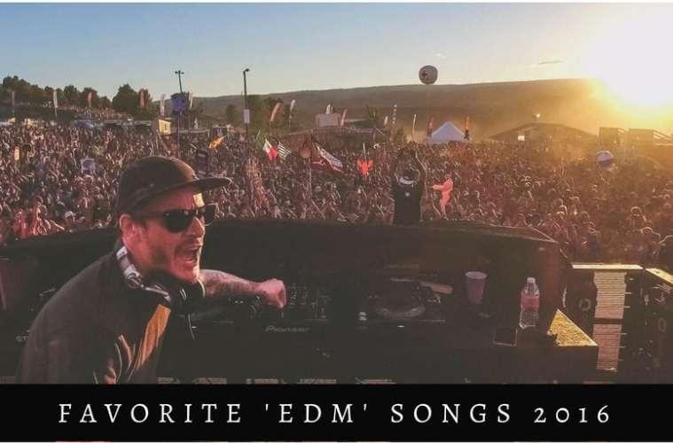 Favorite 'edm' songs 2016