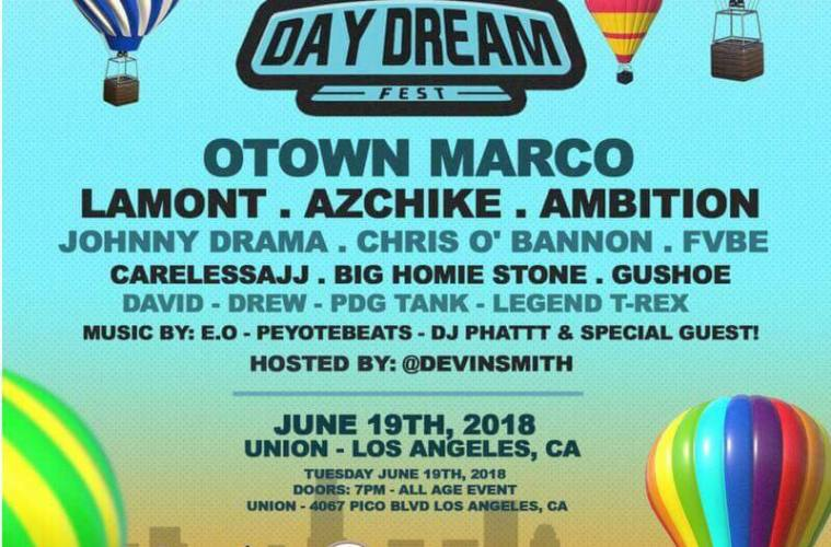 Louisiana's Lamont Plays At DayDream Fest 2018 In LA 6/19!