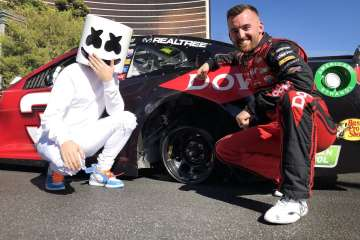 Another PR Stunt: Marshmello Rides with NASCAR for Burnout Boulevard