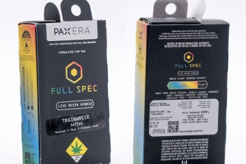 The Trainwreck Live Resin Pax Pod Featuring Full Spec From Leafwerx In Washington State