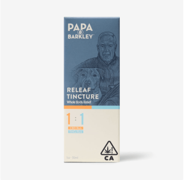 Papa and Barkley Relief Tincture Packaging
