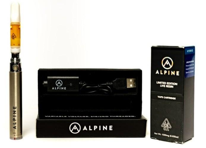 The GMO x Banana Punch Live Resin Vape Cartridge Review Featuring Alpine Vapor in California