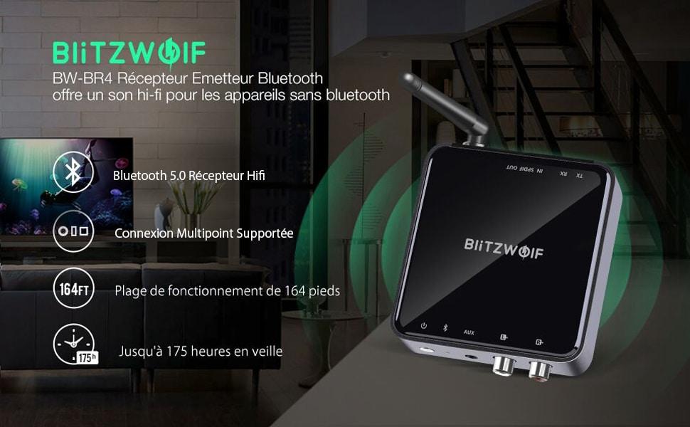 BlitzWolf BW-BR4 - Émetteur, Récepteur Bluetooth
