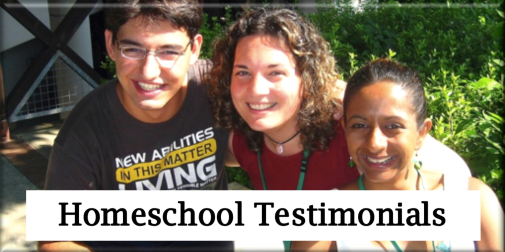 Homeschool Testimonials