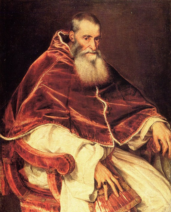 Titian (1488-1576) Pope Paul Oil on canvas, 1543 Private collection