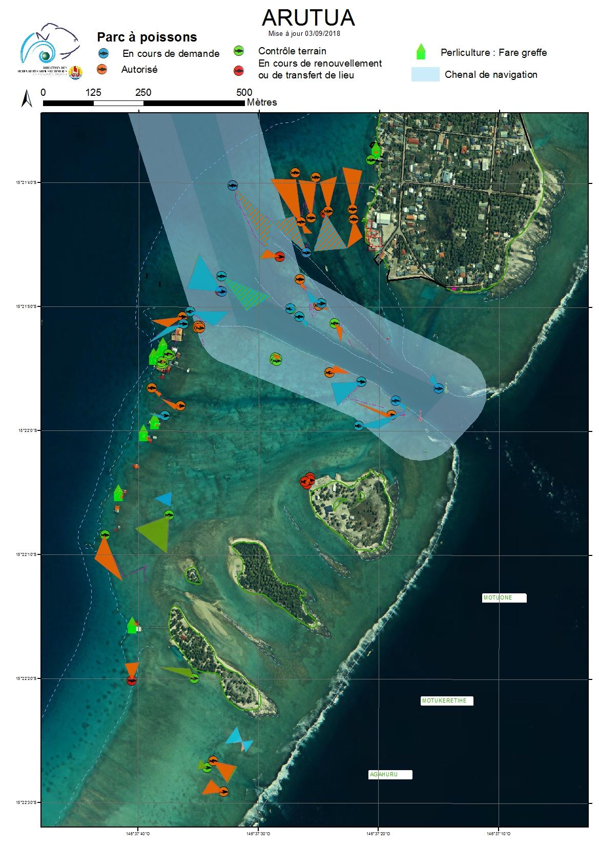 Atlas de Polynésie : Zoom passe Arutua