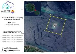 Afaahiti - Motu Nono : Zone de Pêche Réglementée