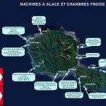 Carte TAHITI Machines à glace et Chambres froides
