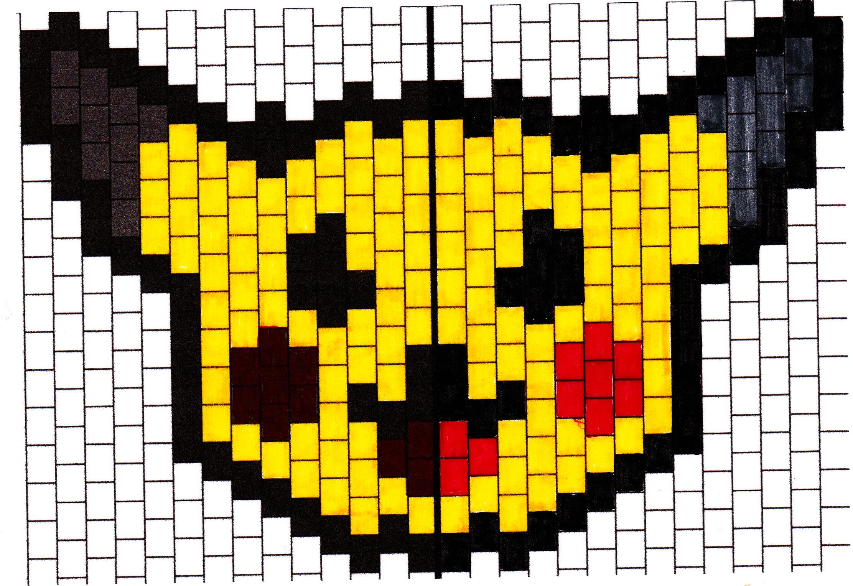 Pixel art - Symétrie orthogonale - Un monde meilleur