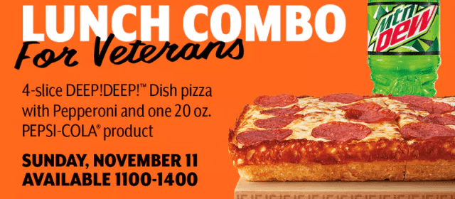 LITTLE CAESARS® PIZZA TREATS VETERANS AND MILITARY TO FREE $5 HOT-N-READY® LUNCH COMBO FOR VETERANS DAY