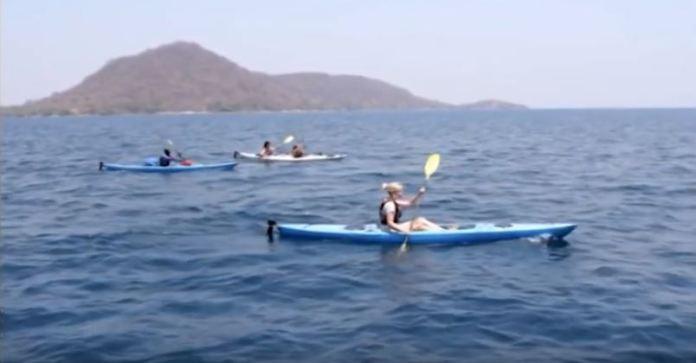 Tourists on Lake Malawi
