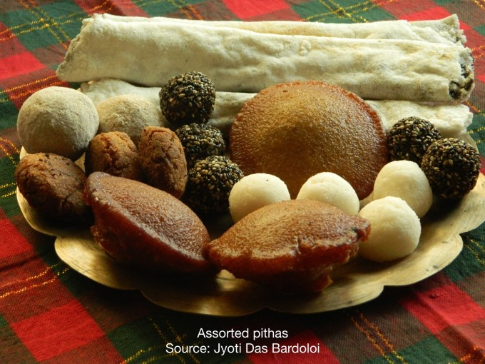 Assorted pithas (sweets)