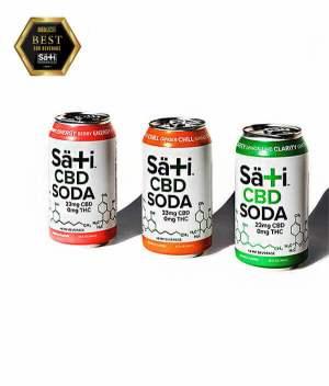 Sati Soda Voted Best CBD Sota available at RESTART CBD Austin