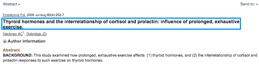 Thyroid hormone and cortisol