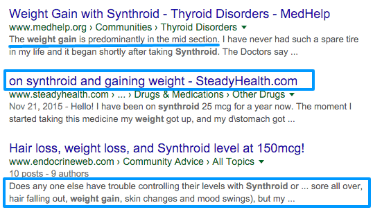 Synthroid And Weight Loss Hypothyroidism