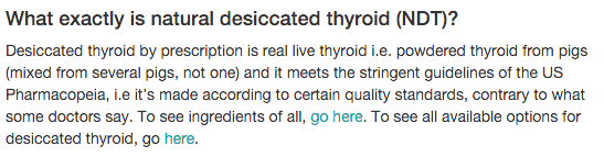 What is Natural Dessicated Thyroid