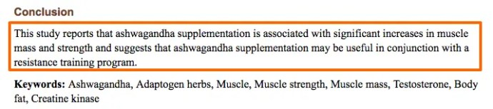 Ashwagandha increases muscle mass