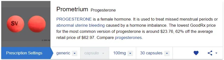 prometrium vs progesterone cream