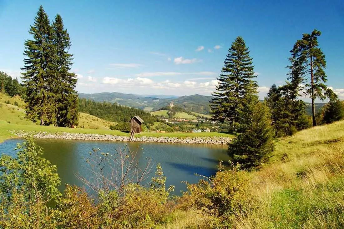 Tajchy a sokoliarky v Štiavnických vrchoch