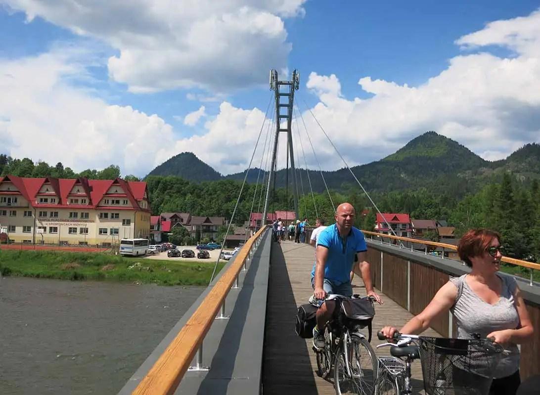 Červený kláštor, Pieniny- turistické trasy/ cyklotrasy