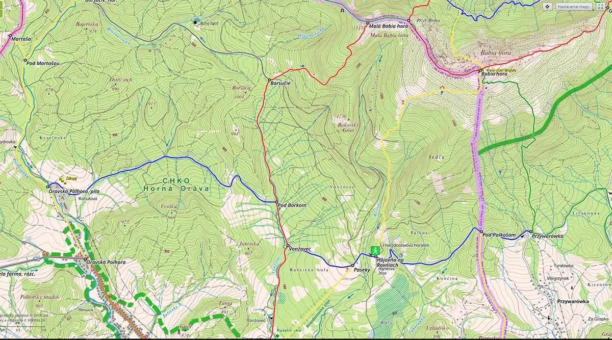 turistické trasy Babia hora