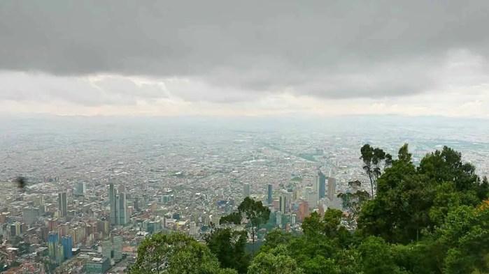 Výhľad na Bogotu