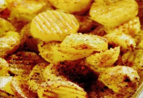 Cartofi la cuptor cu crema de branza