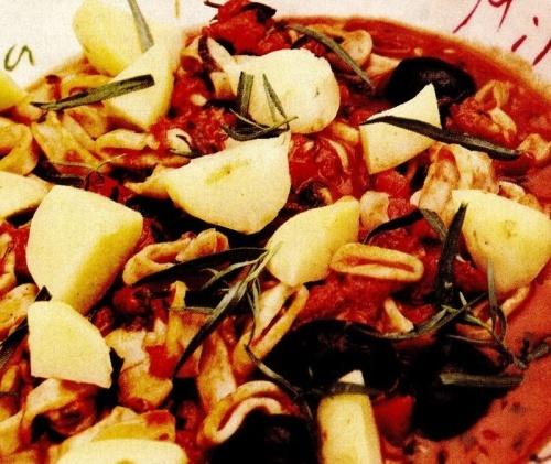 Mâncare cu inele de calamar