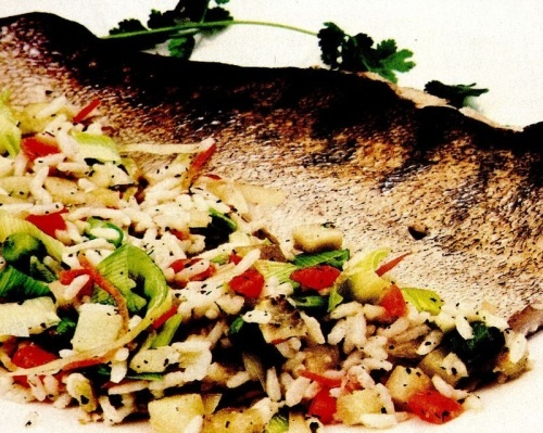 Peşte la grătar cu legume