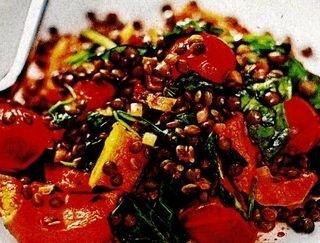 Salată de linte cu dovleac