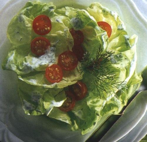 Salata verde in iaurt cu marar