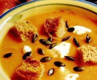 Supa crema de dovleac cu smantana