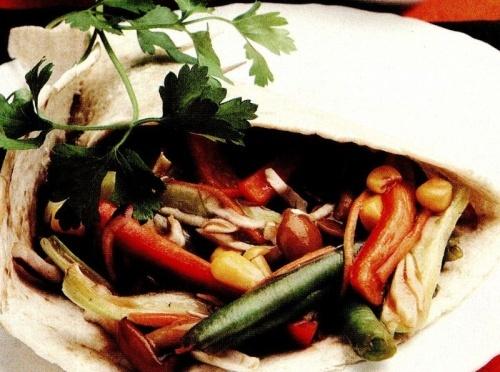 Tortilla cu legume