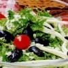 Salată verde cu şuncă si ciuperci