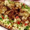Ficăţei cu garnitură de orez si legume