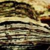 Tort de clătite cu spanac, ciuperci şi brânză