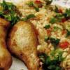 Ciocănele de pui cu orez si legume