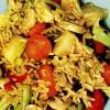 Mâncare cu orez şi pui