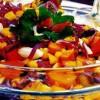 Salată de varză roşie cu pastramă de pui