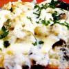 Şalău cu ciuperci, cartofi şi sos alb la cuptor