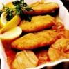 Parjoale de peşte în sos de ceapă