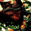 Pastrama de oaie cu legume