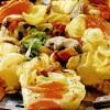 Paste cu legume, şuncă şi ciuperci