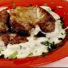 Ceafă de porc cu sos de caşcaval