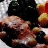 File de somon cu sos de struguri