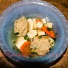 Supa cu galuste din ficatei de pui